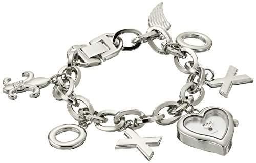 XOXO Damen XO7028 Silver Dial Silver-tone Charm Armbanduhr