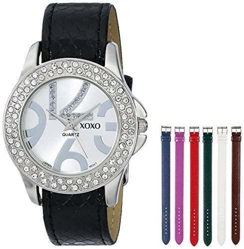 XOXO Damen XO9026 Seven Color Snake Interchangeable Strap Set Armbanduhr