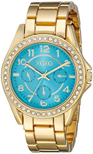 XOXO X0180 Uhr Damen Quarz Analog Blau und Gold