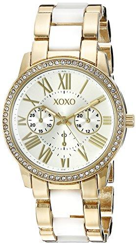 XOXO xo5875 Uhr Damen Quarz analogico weiss und gold