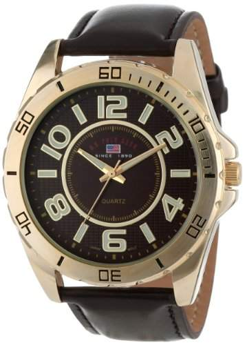 US Polo Assn Classic Herren US5160 Brown Dial Brown Strap Armbanduhr