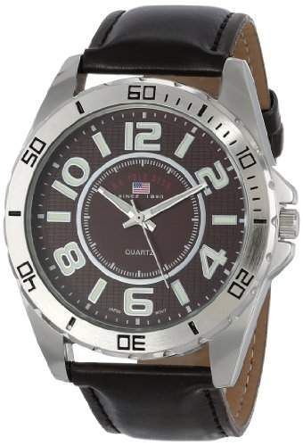US Polo Assn Classic Herren US5163 Brown Dial Brown Strap Armbanduhr