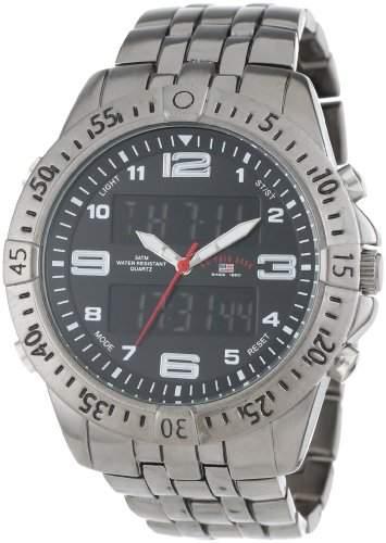 US Polo Assn Classic Herren US8496 Gunmetal-Tone Analog-Digital Armbanduhr