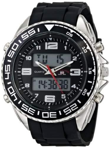 US Polo Assn Sport Herren US9043 Analog-Digital Display Analog Quartz Black Armbanduhr
