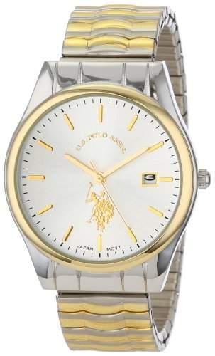 US Polo Assn Classic Herren USC80006 Two-Tone Bracelet Analog Armbanduhr
