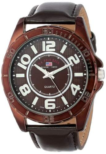 US Polo Assn Classic Herren US5161 Brown Dial Brown Strap Armbanduhr