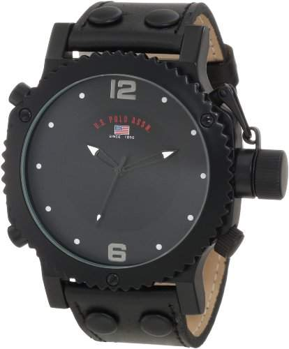 US Polo Assn Classic Herren US5211 Black Analog Armbanduhr
