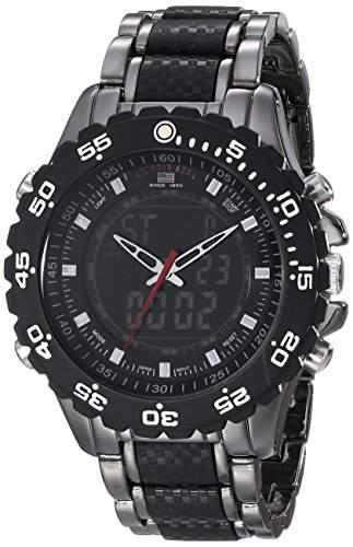 US Polo Assn Sport Herren US8170 Black and Gunmetal Ana-Digi Bracelet Armbanduhr