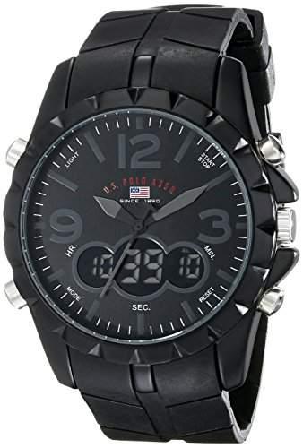 US Polo Assn Sport Herren US9058 Black Analog-Digital Armbanduhr