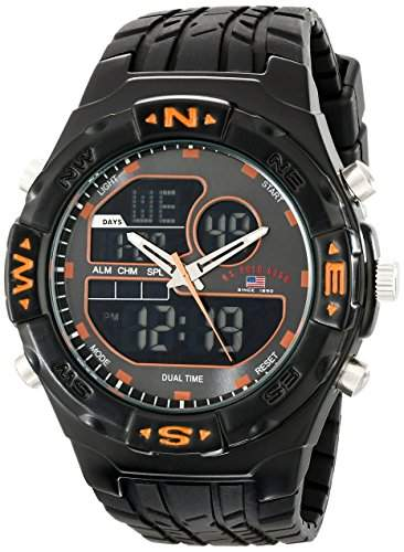 US Polo Assn Sport Herren US9059 Analog-Digital Armbanduhr with Black Rubber Band