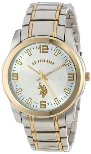 US Polo Assn Herren-Armbanduhr Armband Metall Silber + Gehaeuse Quarz Analog USC80031