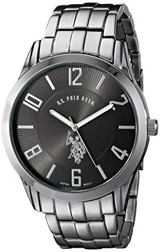 US Polo Assn Classic Herren USC80038 Analogue Black Dial Bracelet Armbanduhr