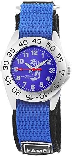 Tavolino Damenuhr mit Textilklettband Blau Armbanduhr Uhr 120923000002