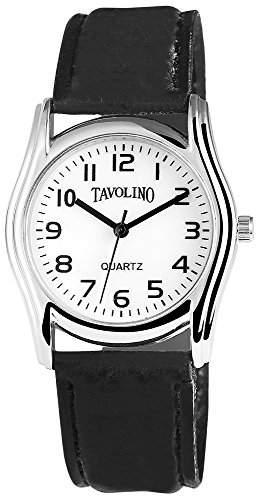 Tavolino Unisexuhr mit Lederimitationarmband Weiss Armbanduhr Uhr 200322000006