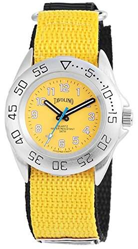 Tavolino Herrenuhr mit Textilklettband Gelb Armbanduhr Uhr 200524000002