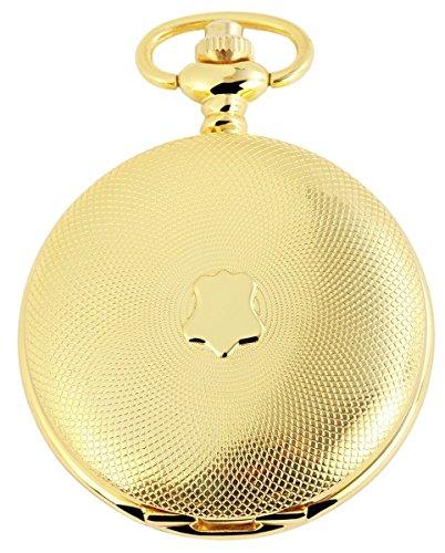 Tavolino Analog Taschenuhr mit Metall Kette 480702000050 Goldfarbiges Gehaeuse im Masse 46mm x 14mm mit Ziffernblattfarbe Weiss und Mineralglas