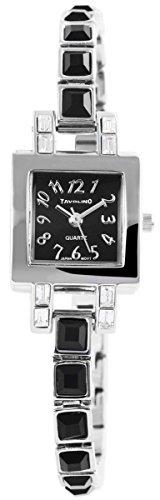 Tavolino Damenuhr mit Metallarmband Armbanduhr Uhr Schwarz 100421100227