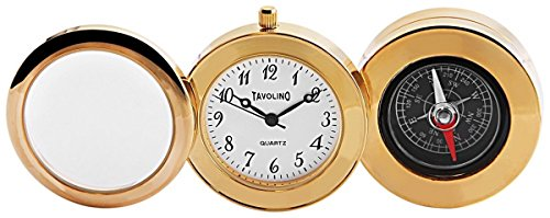 Tavolino Miniaturuhr Kompass und Lupe Groesse 3 2 cm Uhr 300402000146
