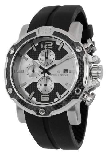 Herzog & Soehne Herren-Armbanduhr XL Analog Quarz Silikon HS201-112