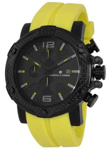 Herzog & Soehne Herren-Armbanduhr XL Analog Quarz Silikon HS201-620