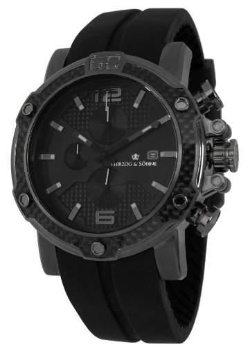 Herzog & Soehne Herren-Armbanduhr XL Analog Quarz Silikon HS201-622