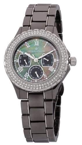 Herzog & Soehne Damen-Armbanduhr Analog Quarz Keramik HS202-622B