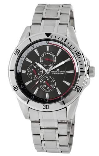 Herzog & Soehne Armbanduhr schwarzsilber Ø 42 mm