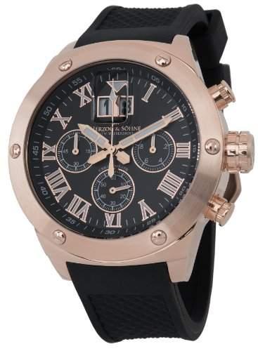 Herzog & Soehne Herren-Armbanduhr XL Analog Quarz Silikon HS313-322