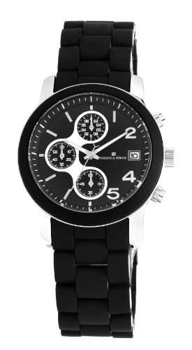 Herzog & Soehne Damen-Armbanduhr Chronograph Quarz Edelstahl HS402-122