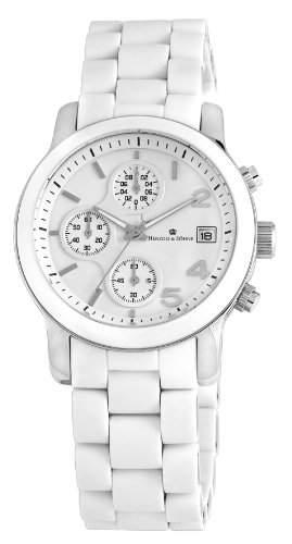Herzog & Soehne Damen-Armbanduhr Chronograph Quarz Edelstahl HS402-186