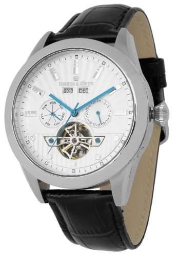 Herzog & Soehne Herren-Armbanduhr XL Analog Automatik Leder HS512-112