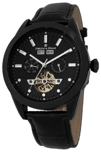 Herzog & Soehne Herren-Armbanduhr XL Analog Automatik Leder HS512-622