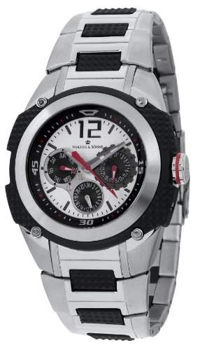 Herzog & Soehne Armbanduhr schwarzsilber Ø 46 mm