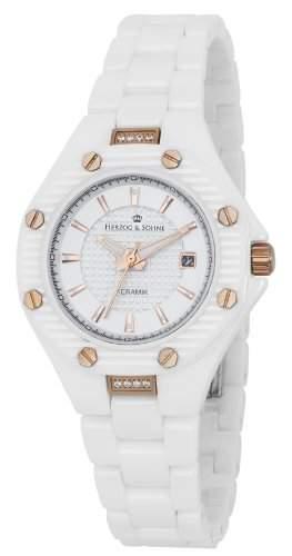 Herzog & Soehne Damen-Armbanduhr XS Analog Quarz Keramik HSV01-586
