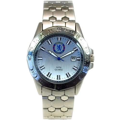 Chelsea FC Limited Edition Herren Chronograph mit rostfreiem Edelstahl-Uhrenarmband und silbernen Zifferblatt, GA1614
