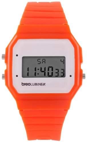 Breo Unisex-Armbanduhr Luminex OrangeWhite Digital Plastik B-TI-LX18