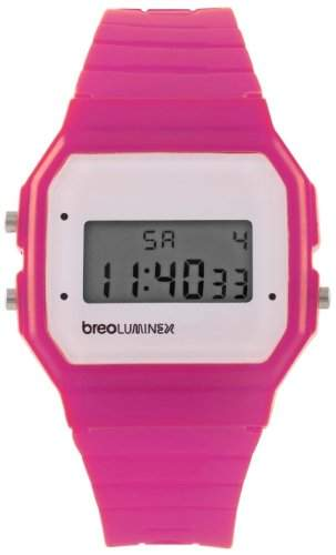 Breo Unisex-Armbanduhr Luminex PinkWhite Digital Plastik B-TI-LX38