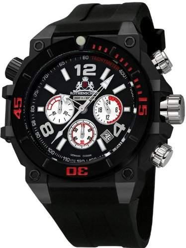 Rothenschild Armbanduhr SilikonSchwarzSchwarz