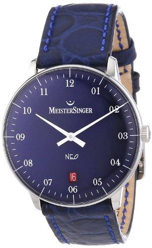 MeisterSinger Unisex Armbanduhr Neo 2Z AnalogAutomatik Leder NE208