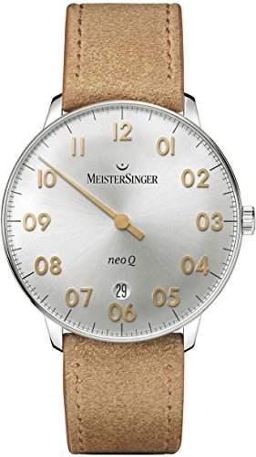 MeisterSinger Herrenuhr Einzeigeruhr mit Zusatzfunktion Neo Q NQ901GN