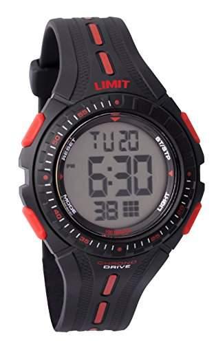 Limit Racing Jungen-Armbanduhr, LCD-Digitalanzeige und Kunststoffarmband