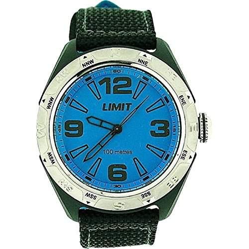 LIMIT Analoge Herren Armbanduhr mit blauem Ziffernblatt, 100m wasserdicht und Nylonarmband 5402