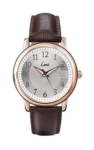 MenLimit Damen Armbanduhr Analog Kunststoff braun PU Strap 545001