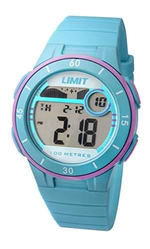 Limit Active Mädchen-Armbanduhr mit digitaler LCD-Anzeige und Kunststoffband, Blau, 555824