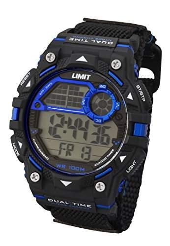 Limit Active Boy s Digital Uhr mit LCD Zifferblatt Digital Display und schwarz Kunststoff Gurt 560424