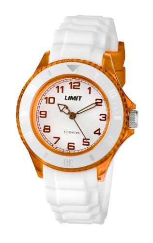 Limit Unisex-Armbanduhr Glacier Analog Silikon Weiss 602301