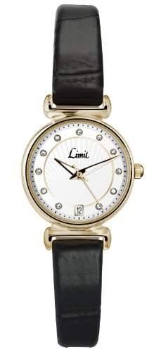 Limit Damen-Armbanduhr Analog Kunststoff schwarz 694801