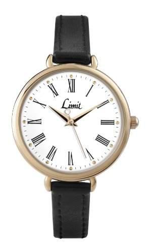 Limit Damen-Armbanduhr Analog Kunststoff Schwarz 696201