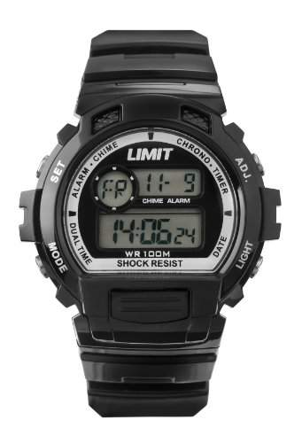 Limit Unisex-Armbanduhr Digital Automatik Kunststoff schwarz 697056 Gurt