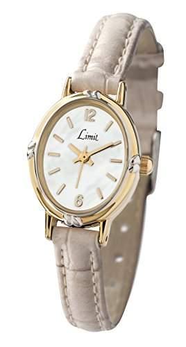 Limit WomenQuarz-Uhr mit weissem Zifferblatt Analog-Anzeige und weisse PU Strap 697935